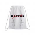 FUCK HATERS Drawstring bag