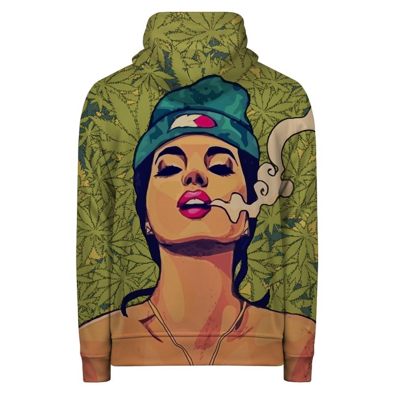 Bluza z zamkiem SMOKE WEED EVERYDAY