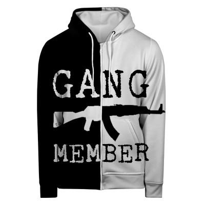 GANG MEMBER Hoodie Zip Up