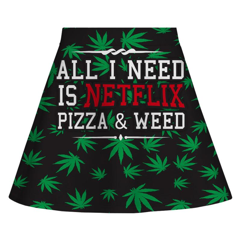 WEED & NETFLIX Skirt