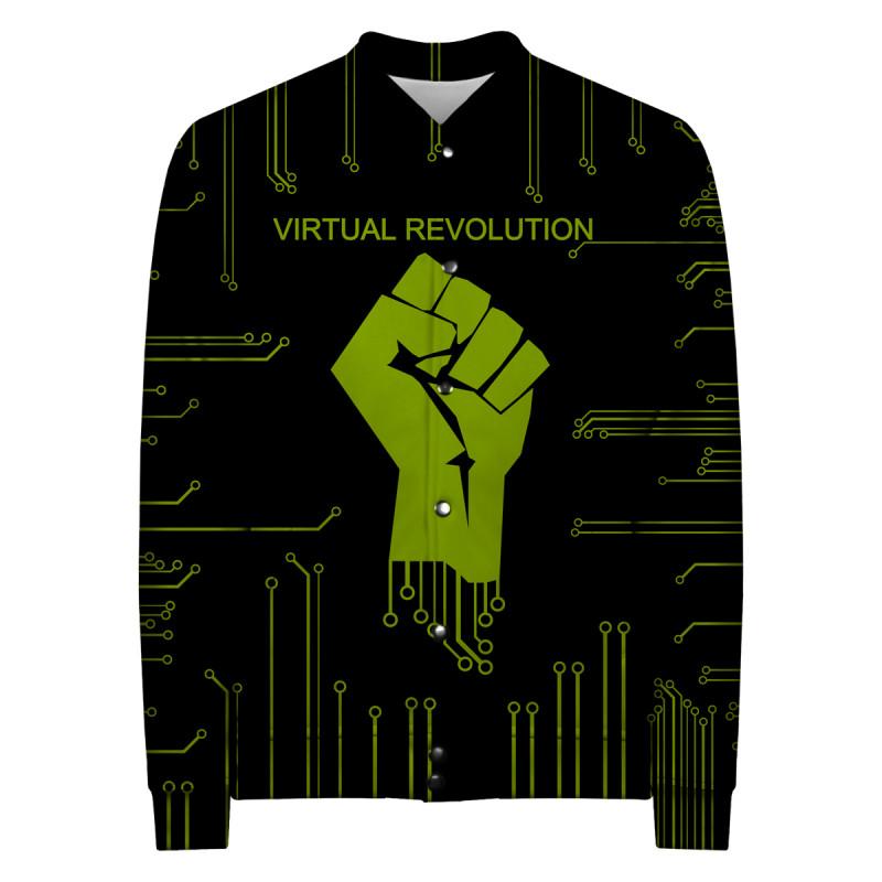 VIRTUAL REVOLUTION Baseball Jacket