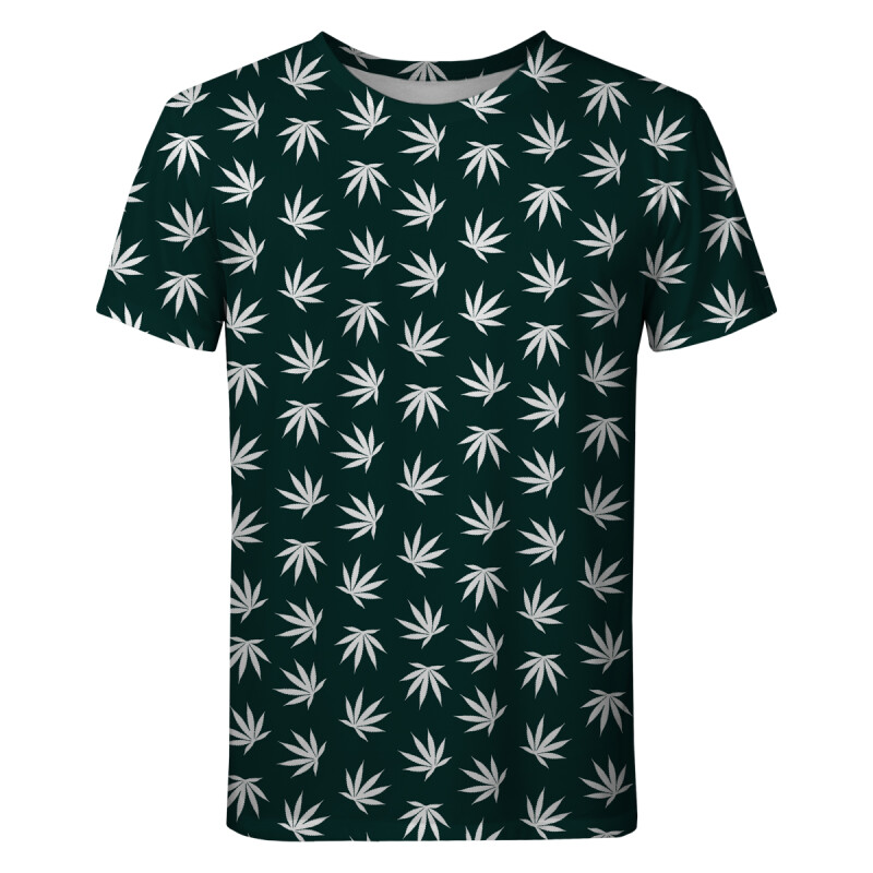 WEED PATTERN GREEN T-shirt
