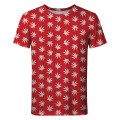 WEED PATTERN RED T-shirt