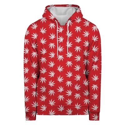 WEED PATTERN RED Hoodie