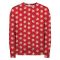 WEED PATTERN RED Sweater