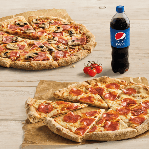 ONLINE PARTY DEAL: 2 X PIZZA + NAPÓJ