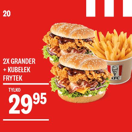 2x Grander + Kubełek Frytek