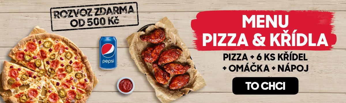 HP Menu pizza+křídla