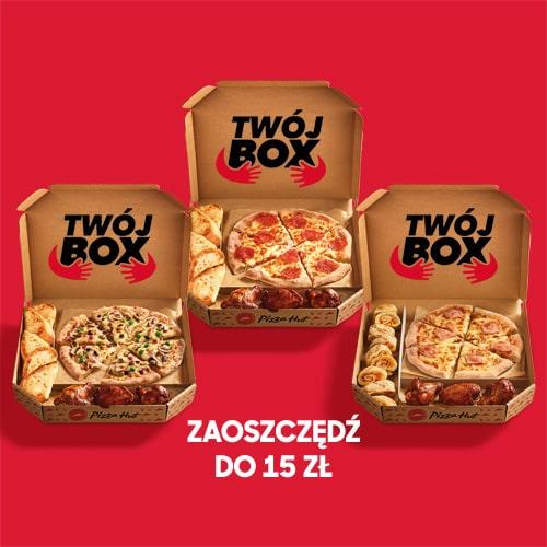 3x TWÓJ BOX - DOWOLNY SMAK PIZZY