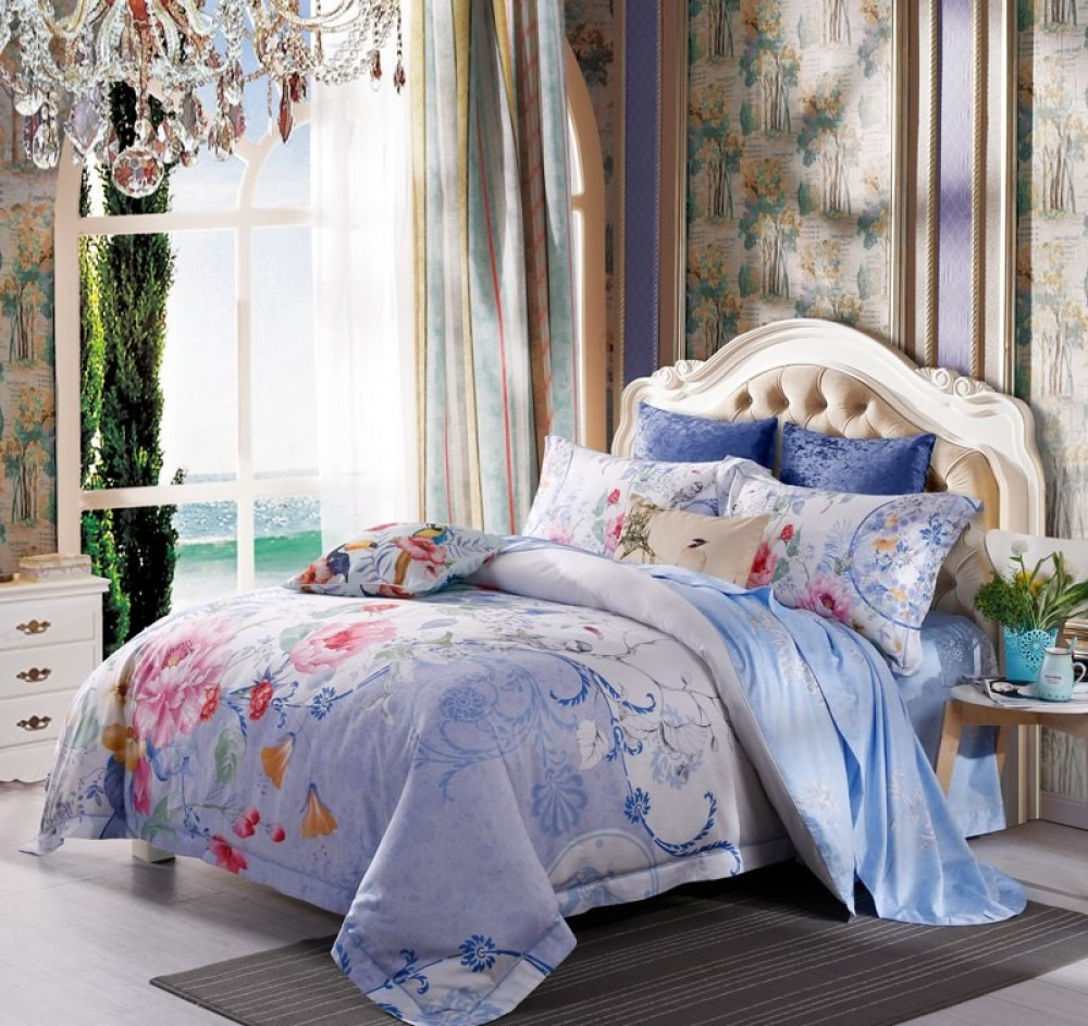 After Fashion, Peony Blue Bed Linen Set Image $i