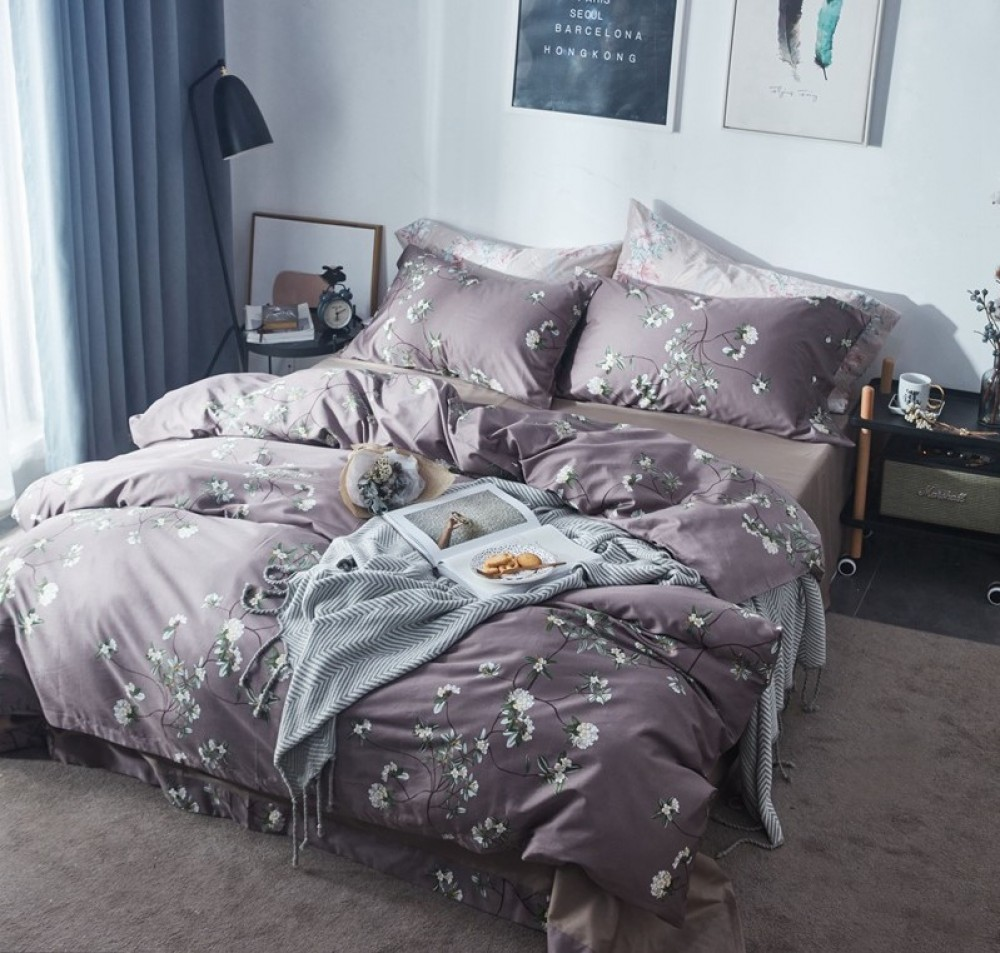 After Fashion, Silky Purple Bed Linen Set Image $i