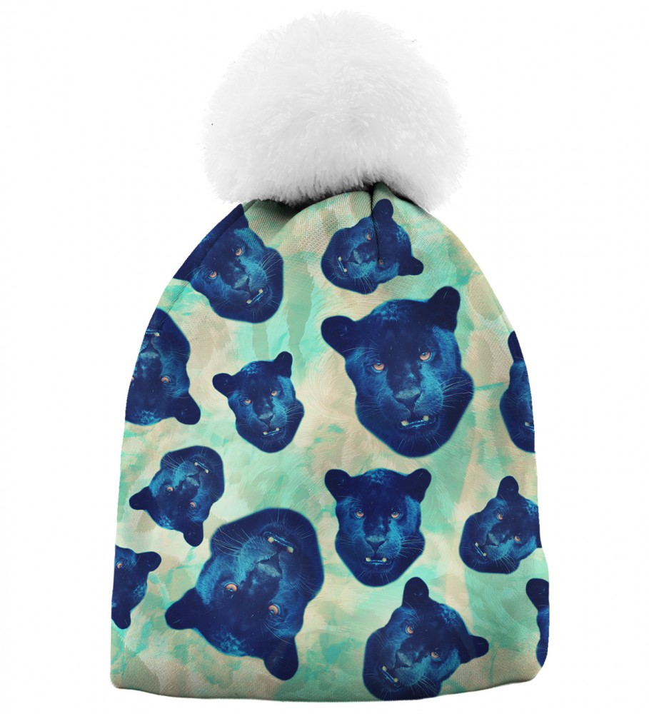 Aloha From Deer, PANTHER HEADS BEANIE Image $i