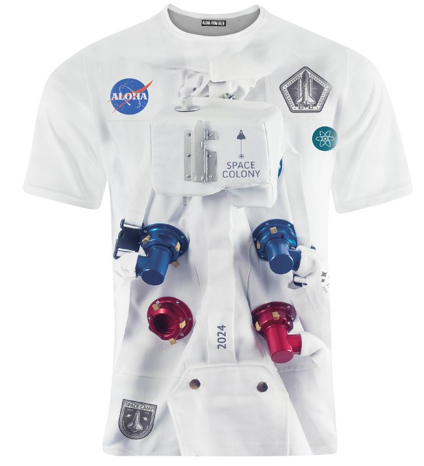 T-SHIRT ALOHA SPACE STATION Miniatury 1