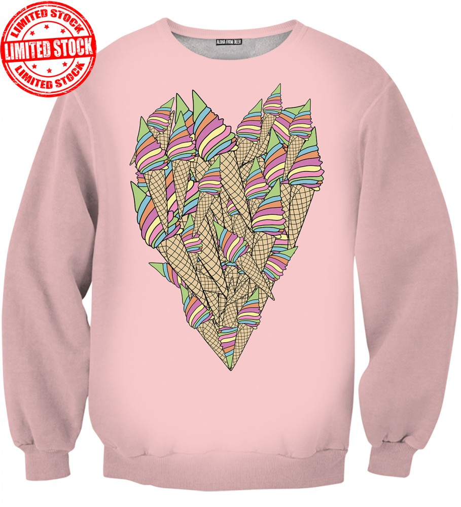 Aloha From Deer, ICE-CREAM HEART SWEATER Image $i