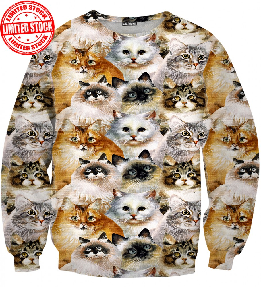 Aloha From Deer, CAT HEADS SWEATER Image $i