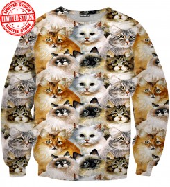 Aloha From Deer, CAT HEADS SWEATER Thumbnail $i