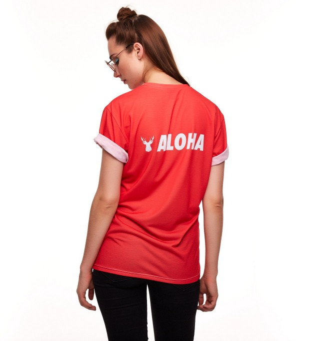 BASIC ALOHA RED T-SHIRT Thumbnail 2