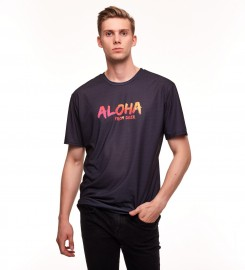 Aloha From Deer, BLACK ALOHA T-SHIRT Thumbnail $i