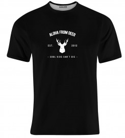 Aloha From Deer, BASIC ALOHA BLACK T-SHIRT Thumbnail $i