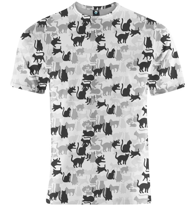 WHITE CAMO CATS T-SHIRT Thumbnail 2