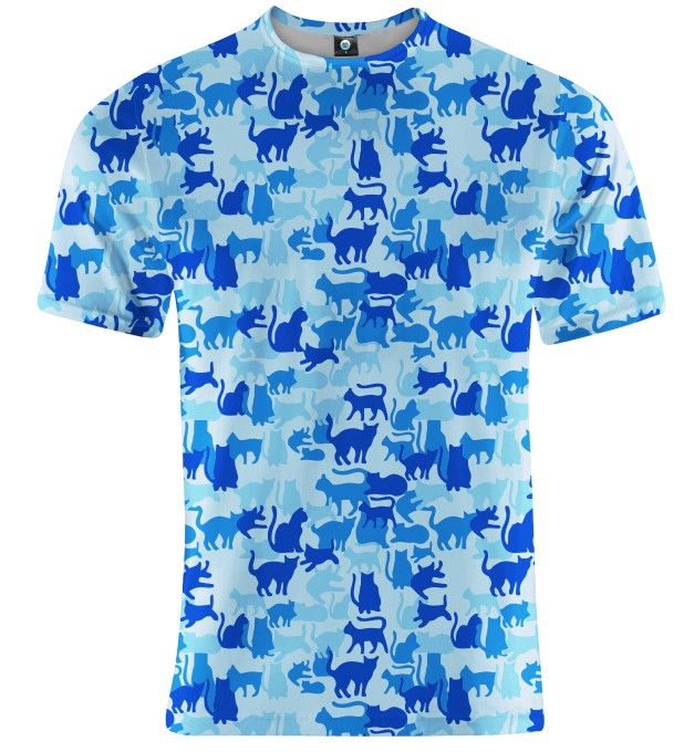 BLUE CAMO CATS T-SHIRT Miniatury 1