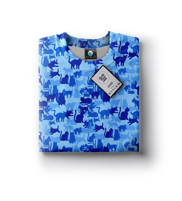 BLUE CAMO CATS SWEATSHIRT Miniatury 2