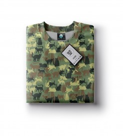 Aloha From Deer, CAMO CATS SWEATSHIRT Thumbnail $i