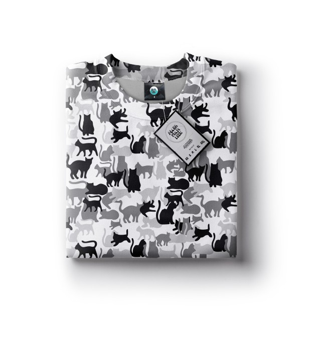 WHITE CAMO CATS SWEATSHIRT Thumbnail 2