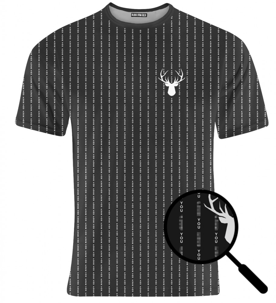 Aloha From Deer, FK YOU BLACK T-SHIRT Image $i