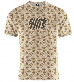 Aloha From Deer, FK THIS CAMO BROWN T-SHIRT Thumbnail $i