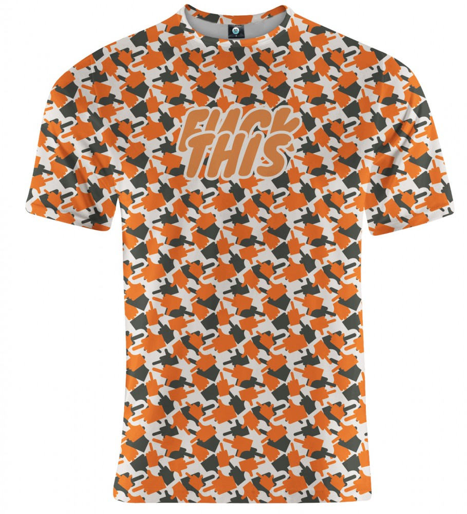 Aloha From Deer, FK THIS CAMO ORANGE T-SHIRT Image $i