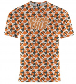 Aloha From Deer, FK THIS CAMO ORANGE T-SHIRT Thumbnail $i