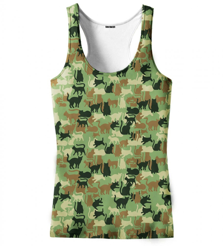 Aloha From Deer, CAMO CATS TANK TOP Image $i