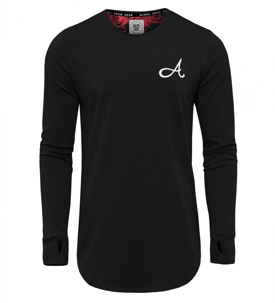 Aloha From Deer, Cotton Long Sleeve Black Image $i
