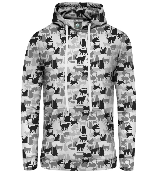 WHITE CAMO CATS PULLOVER HOODIE Thumbnail 1