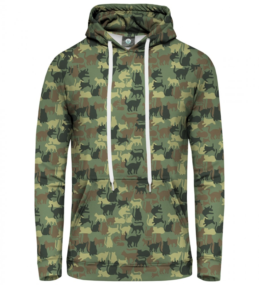 Aloha From Deer, CAMO CATS PULLOVER HOODIE Image $i