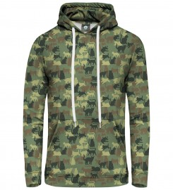 Aloha From Deer, CAMO CATS PULLOVER HOODIE Thumbnail $i