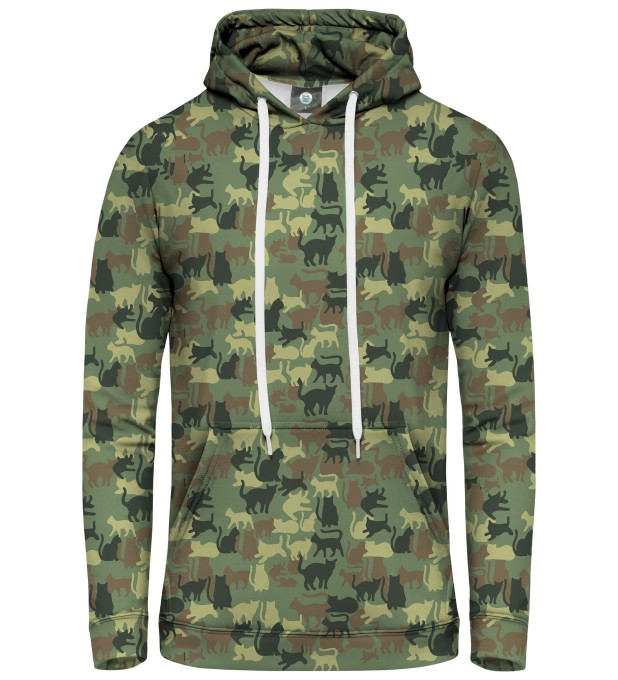 CAMO CATS PULLOVER HOODIE Miniatury 1