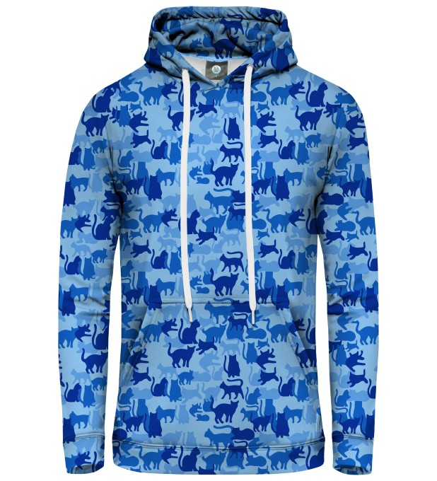 BLUE CAMO CATS PULLOVER HOODIE Miniatury 1
