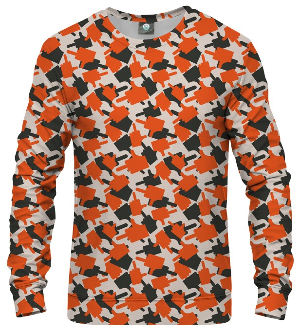 FK THIS CAMO ORANGE SWEATSHIRT Thumbnail 1