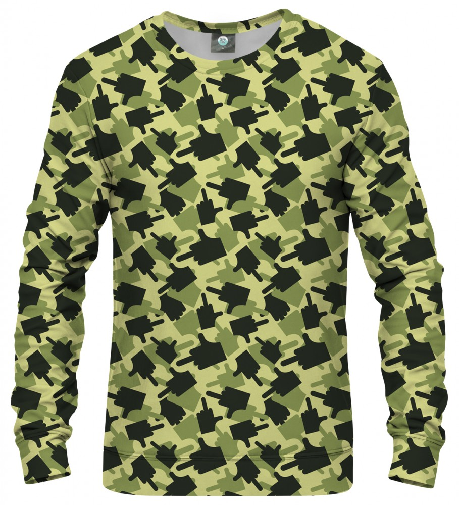 Aloha From Deer, FK THIS CAMO GREEN SWEATSHIRT Image $i