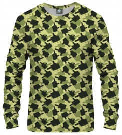 Aloha From Deer, FK THIS CAMO GREEN SWEATSHIRT Thumbnail $i