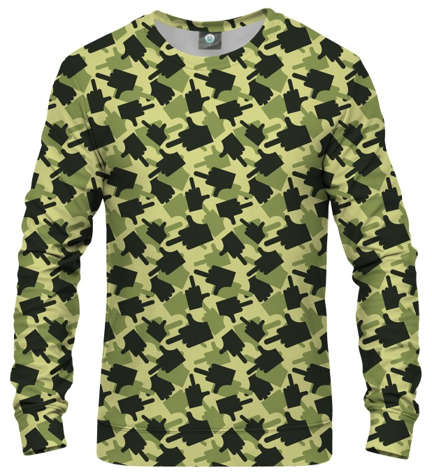 FK THIS CAMO GREEN SWEATSHIRT Thumbnail 1