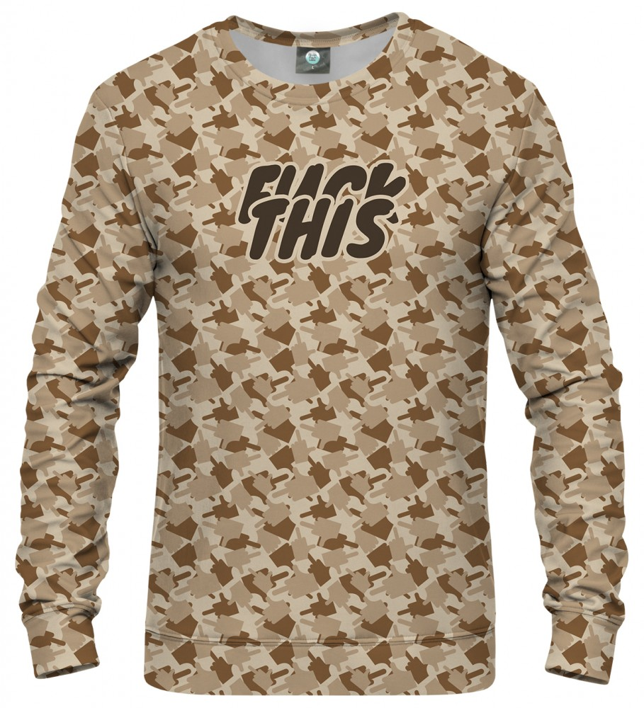 Aloha From Deer, FK THIS CAMO BROWN SWEATSHIRT Image $i