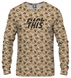 Aloha From Deer, FK THIS CAMO BROWN SWEATSHIRT Thumbnail $i