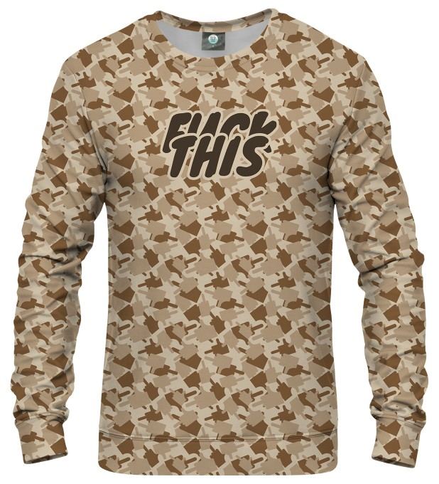 FK THIS CAMO BROWN SWEATSHIRT Thumbnail 1