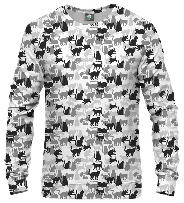 WHITE CAMO CATS SWEATSHIRT Thumbnail 1