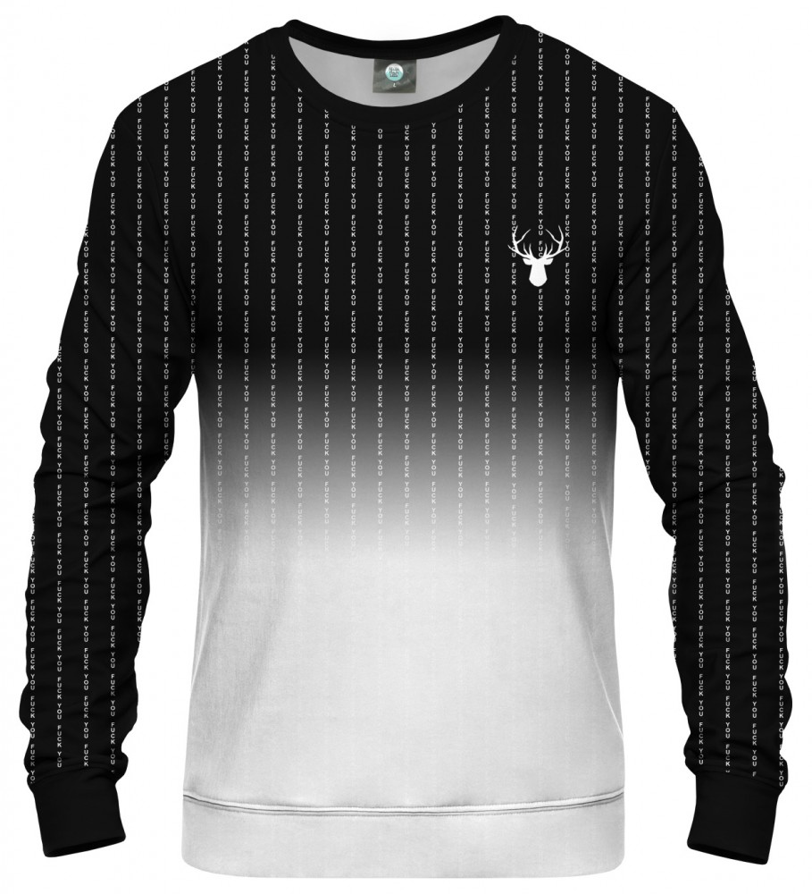 Aloha From Deer, FK YOU FADE BLACK SWEATSHIRT Image $i