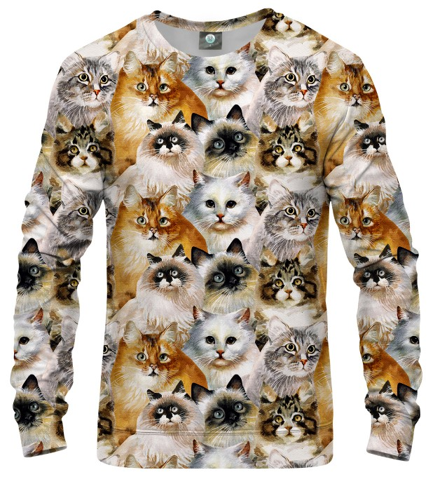 CAT HEADS SWEATER Thumbnail 1