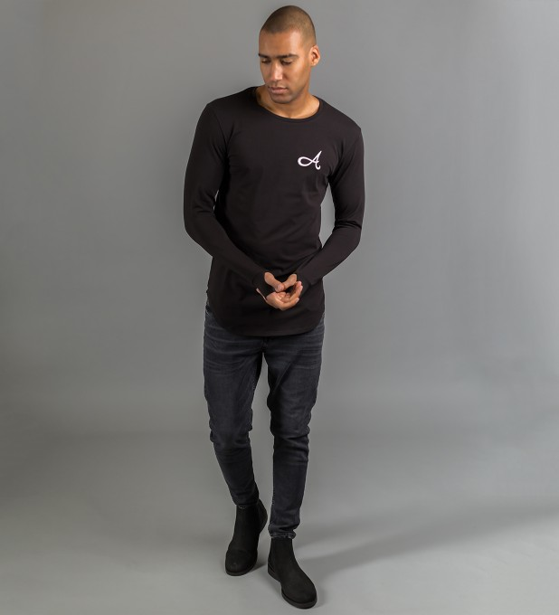 Cotton Long Sleeve Black Thumbnail 2